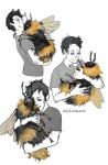 "<3 arthropod bee collage cuddling duo feral fluffy hug human insect kat_saunt male mammal pet  Rating: Safe Score: 11 User: ktkr Date: June 04, 2015"""