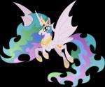 2014 alpha_channel bat_pony equine female feral friendship_is_magic horn mammal my_little_pony princess_celestia_(mlp) solo vector-brony winged_unicorn wings   Rating: Safe  Score: 11  User: Robinebra  Date: April 14, 2014
