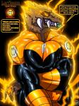 ! 2016 absurd_res alien anthro big_breasts breasts brown_fur claws clothed clothing condom energy english_text fangs female fur glowing glowing_eyes hi_res larfleeze looking_at_viewer rubber solo teeth text tight_clothing walter_sache yellow_lantern  Rating: Safe Score: 15 User: Fur_in_the_dark Date: March 18, 2016