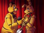 animatronic bear duo five_nights_at_freddy's five_nights_at_freddy's_3 golden_freddy_(fnaf) hi_res lagomorph machine male mammal mechanical rabbit robot springtrap_(fnaf) tristastrange01 video_games   Rating: Safe  Score: 1  User: Kario-xi  Date: May 22, 2015