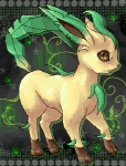 ambiguous_gender eeveelution feral leaf_tail leafeon low_res nintendo pokémon solo spring_bane video_games