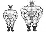 abs biceps big_muscles bulge clothed clothing dragon duo helmet hyper hyper_muscles lagomorph male mammal monochrome muscular pecs rabbit rg01 rg02 ripped-saurian scalie thong topless undertale video_games  Rating: Questionable Score: 6 User: Tealmarket Date: November 07, 2015
