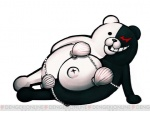 bear black_eyes black_nose bra chubby clothing cute dangan_ronpa happy humor looking_at_viewer lying male mammal monobear navel on_floor on_side open_mouth red_eyes shadow shell shiny smile solo teddy_bear teeth thong toy underwear unknown_artist video_games   Rating: Safe  Score: 0  User: WiiFitTrainer  Date: April 19, 2013