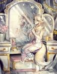 2014 anthro blue_eyes brush brushing brushing_hair candle canine clothing female fox grooming hair jewelry jotaku mammal mirror sitting smile solo zoe  Rating: Safe Score: 18 User: Knotty_Curls Date: May 11, 2015