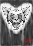 2013 3_eyes <3 ambiguous_gender anthro border cheek_tuft digital_drawing_(artwork) digital_media_(artwork) ear_tuft floating front_view fur grey_background greyscale grin headshot_portrait insane looking_at_viewer monochrome notched_ear pointy_ears portrait self_portrait sharp_teeth signature simple_background sketch solo teeth the_void third_eye tuft  Rating: Safe Score: 3 User: 0p3nV01D5 Date: September 12, 2013