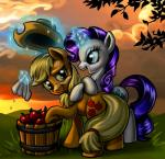 2015 apple applejack_(mlp) duo earth_pony equine female feral friendship_is_magic fruit harwick hat horn horse magic mammal my_little_pony pony rarity_(mlp) sweat unicorn  Rating: Safe Score: 12 User: Robinebra Date: September 26, 2015