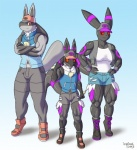 anthro bree cari child cub eeveelution female group hybrid impious luc lucario male male/female muscles muscular_female nintendo orange_eyes pokémon red_eyes umbreon video_games young   Rating: Safe  Score: 3  User: Zanon  Date: May 28, 2013