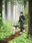 2010 all_fours anthro biohazard_symbol canine couple dog duo feral forest fox kacey leaf male mammal nature outside plant smile sxe tree walking wood  Rating: Safe Score: 6 User: stranger_furry Date: June 16, 2012""