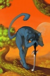 augi back blue_eyes blue_fur blue_hair cat claws feline forest fur hair male muscles nude short_hair solo sword tree weapon wood   Rating: Questionable  Score: 2  User: eronuredsky  Date: April 27, 2010