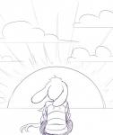 2016 anthro asriel_dreemurr boss_monster caprine duo goat kylee_henke male mammal monochrome protagonist_(undertale) solo_focus undertale video_games  Rating: Safe Score: 15 User: slyroon Date: March 01, 2016