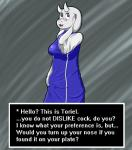 blush breasts bulge caprine clothing dickgirl english_text goat herm horn intersex long_ears mammal monster n0nd3scr1pt phone robe robes solo text toriel undertale  Rating: Questionable Score: 7 User: n0nd3scr1pt Date: September 21, 2015