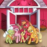 2014 absurd_res apple apple_bloom_(mlp) applejack_(mlp) barn big_macintosh_(mlp) cub earth_pony equine female feral friendship_is_magic fruit granny_smith_(mlp) group hat hi_res horse male mammal my_little_pony pinkie_pie_(mlp) pony vicse young   Rating: Safe  Score: 7  User: Robinebra  Date: May 18, 2015