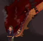 bilbo_baggins butt disgusted dragon gay hobbit horn licking male naked_butt nomorewords red_dragon scalie size_difference smaug smoke steam the_hobbit tongue   Rating: Questionable  Score: 6  User: HappyFiver  Date: February 19, 2014