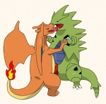 charizard dinosaur dragon duo fire french_kissing frottage kissing male male/male nintendo penis plain_background pokémon precum saliva scalie sex sfbwd tyranitar video_games  Rating: Explicit Score: 0 User: Zest Date: April 10, 2015""
