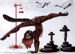 2015 anthro avian balancing bird breasts brown_fur brown_hair clouded_leopard feline female feral flying foxene fur hair handstand leopard long_hair looking_at_viewer mammal multicolored_hair nude pussy solo spread_legs spreading two_tone_hair upside_down  Rating: Explicit Score: 9 User: TonyLemur Date: August 23, 2015