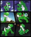 2015 3_toes belly big_belly blue_eyes blush comic dinosaur earth futonmania growth hindpaw macro mario_bros nintendo paws penis space text toes video_games yoshi  Rating: Explicit Score: 2 User: Scyther Date: June 07, 2015""