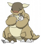 blush brown_body child claws duo eyes_closed feral horn kangaskhan mother nintendo parent plain_background pokémon scalie size_difference tensor video_games white_background young   Rating: Safe  Score: 1  User: Kitsu~  Date: December 23, 2008