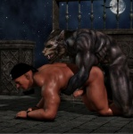 3d_(artwork) all_fours anal anal_penetration anthro balls big_muscles black_howler canine cgi digital_media_(artwork) doggystyle duo erection eyes_closed from_behind_position hi_res human human_on_anthro humanoid_penis interspecies male male/male mammal muscular muscular_male night nude outside penetration penis sex sky star starry_sky were werewolf  Rating: Explicit Score: 29 User: furmann Date: July 04, 2013