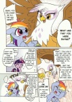 akira_umano avian blue_feathers blue_fur comic dialogue english_text equine feathered_wings feathers female feral friendship_is_magic fur gilda_(mlp) gryphon hair horn mammal multicolored_hair my_little_pony pegasus purple_eyes purple_fur purple_hair rainbow_dash_(mlp) rainbow_hair text twilight_sparkle_(mlp) two_tone_hair unicorn wings  Rating: Safe Score: 8 User: MERKLEY Date: November 13, 2012