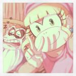 "blonde_hair brown_fur cranky_kong dixie_kong donkey_kong_(series) duo eyewear female fur glasses green_eyes hair hat male mammal monkey nintendo primate signature sleeping smile solstice_rose video_games  Rating: Safe Score: 3 User: Cαnε751 Date: April 10, 2015"""