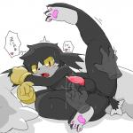 <3 anthro anus balls clothing duo gloves japanese klonoa klonoa_(series) long_ears male penis precum sweat translated 狸槻   Rating: Explicit  Score: 5  User: Untamed  Date: June 28, 2014