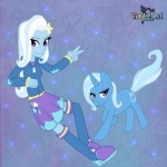 boots dress equine female horse humanoid jacket mammal my_little_pony pony sparkles trixie vonderdevil   Rating: Safe  Score: 2  User: BumbleDoc  Date: April 18, 2014