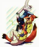 2016 ahiru621 anthro canine disney duo female fox judy_hopps lagomorph male mammal nick_wilde rabbit zootopia  Rating: Safe Score: 3 User: Vallizo Date: April 30, 2016