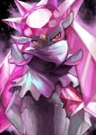ambiguous_gender blush diancie evil_look nintendo pokémon red_eyes smile solo video_games yilx   Rating: Safe  Score: 5  User: DeltaFlame  Date: February 08, 2015