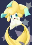 ambiguous_gender blush feral green_eyes humanoid jirachi legendary_pokémon navel nintendo open_mouth pokémon simple_background solo tears ukan_muri video_games  Rating: Safe Score: 3 User: BlueF Date: September 17, 2015
