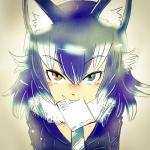 animal_humanoid blue_eyes blue_hair blush clothed clothing female grey_wolf_(kemono_friends) hair heterochromia humanoid kemono_friends looking_at_viewer necktie object_in_mouth sho_(pixiv) solo white_hair wolf_humanoid yellow_eyesRating: SafeScore: 4User: Blind_GuardianDate: April 23, 2018