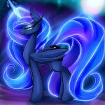 2015 cutie_mark equine female feral friendship_is_magic glowing horn looking_at_viewer madacon magic mammal my_little_pony princess_luna_(mlp) solo winged_unicorn wings   Rating: Safe  Score: 13  User: Robinebra  Date: April 24, 2015
