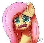 2014 blue_eyes crying equine fangs female fluttershy_(mlp) friendship_is_magic hair mammal my_little_pony pegasus pink_hair portrait raikoh-illust simple_background solo tears upset white_background wings  Rating: Safe Score: 9 User: 2DUK Date: May 21, 2014