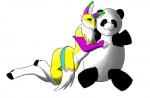 anthro bear canine digimon duo female fox fur hug kira lying mammal morose_ambrose on_side panda plushie renamon white_fur yellow_fur  Rating: Questionable Score: 1 User: Nox224 Date: October 22, 2012