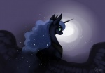 casynuf cutie_mark equine female feral friendship_is_magic hair horn long_hair mammal moon my_little_pony night princess_luna_(mlp) solo winged_unicorn wings   Rating: Safe  Score: 13  User: KrzykaczNerwus  Date: September 20, 2013