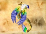 ambiguous_gender blue_feathers dragon egyptian feathered_wings feathers feral green_feathers kizzarina reptile scales scalie snake solo texture_background tree wings yellow_feathers   Rating: Safe  Score: 2  User: parasprite  Date: January 21, 2015