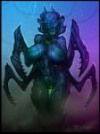 2015 alien areola big_breasts bioluminescence breasts female glowing gnawer horn insectoid looking_at_viewer mandibles monster multi_limb multiple_arms neurodyne nipples nude pussy science_fiction simple_background sketch slime solo unknown_species xeno  Rating: Explicit Score: 17 User: xn0 Date: July 26, 2015