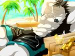 """abs anthro beach biceps big_muscles black_fur black_hair blue_background blue_eyes claws clothed clothing discordnight drugs fur gun hair half-dressed handgun hands_behind_head kunn_(artist) looking_at_viewer male muscles pants pecs pistol plain_background pose ranged_weapon seaside sergal shorts smile solo stoned swimsuit teeth toe_claws topless weapon white_fur  Rating: Safe Score: 9 User: DiscordKnight Date: June 28, 2015"""""""