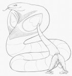 2015 anatomically_correct animal_genitalia arbok cum cum_on_ground cum_on_penis cum_string erection feral forked_tongue hemipenes male monochrome multi_penis nintendo pencil_(artwork) penis pokémon reptile scalie simple_background sketch slitfluid smile snake solo tongue tongue_out traditional_media_(artwork) video_games white_background yaroul  Rating: Explicit Score: 13 User: TheGreatWolfgang Date: October 04, 2015