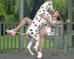 3d bestiality canine dalmatian dog duo female feral french_kissing human interspecies kissing male male/female mammal   Rating: Explicit  Score: 4  User: GerboiseBleu  Date: December 21, 2014