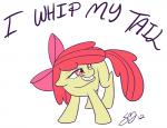 animated apple_bloom_(mlp) bow english_text equine famosity female friendship_is_magic hair horse mammal my_little_pony pony red_hair simple_background text young   Rating: Safe  Score: 8  User: nom123  Date: March 01, 2014