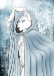 2012 anthro blue_eyes canine chest_tuft clothing female fur looking_at_viewer mammal nipples nude smile solo tuft video_games warcraft were werewolf white_fur worgen yuuki-cat   Rating: Questionable  Score: 14  User: TheHuskyK9  Date: April 24, 2013