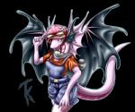 2015 anthro belt black_background breasts clothed clothing dragon eyewear fae_dragon female flight_rising flower goggles hat overalls pink_scales plain_background plant scalie scarf shirt shorts smile solo tailzkim teeth wings yellow_eyes   Rating: Safe  Score: 7  User: GameManiac  Date: February 23, 2015