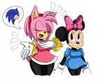 amy_rose anthro bow breasts clothing crossover dialogue digital_media_(artwork) disney dress duo eyes_closed female hair hedgehog hi_res mammal minnie_mouse mouse pink_body pink_hair rodent sonic_(series) sonic_the_hedgehog sssonic2  Rating: Safe Score: 7 User: Cimatrie Date: December 07, 2015