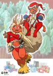 2011 anthro antlers avian bag bell bird blaziken breasts christmas clothing female hat holidays horn infernape legwear mammal monkey nintendo open_mouth pokémon primate running santa_hat stockings video_games zenmigawa  Rating: Safe Score: 9 User: somnusmg Date: March 09, 2012