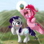 2015 behind-space cupcake drooling duo earth_pony equine female feral food friendship_is_magic horn horse mammal my_little_pony pinkie_pie_(mlp) pony rarity_(mlp) saliva unicorn   Rating: Safe  Score: 3  User: Robinebra  Date: May 17, 2015