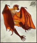 2014 5_toes anthro bat bat_wings black_nose brown_hair chest_tuft claws digital_media_(artwork) fur gloves_(marking) hair hi_res looking_at_viewer male mammal markings membranous_wings multicolored_fur orange_eyes short_hair shorty-antics-27 smile socks_(marking) solo teeth toe_claws toes tuft winged_arms wings  Rating: Safe Score: 9 User: Strongbird Date: April 25, 2016