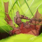 absurd_res bound cenegan024 dragon entangled female feral green_eyes hair hi_res nude pussy red_hair red_scales scales signature solo tree vines wings  Rating: Explicit Score: 4 User: Cenegan Date: April 29, 2016