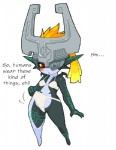 bikini blush clothed clothing english_text female humanoid imp kemonon midna nintendo not_furry plain_background red_eyes skimpy solo swimsuit text the_legend_of_zelda translated twilight_princess video_games white_background   Rating: Questionable  Score: 10  User: Juni221  Date: December 26, 2014