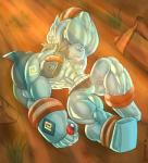 abs biceps big_muscles dragmon golurk male muscular muscular_male nintendo nipples nude pecs pokémon solo video_games