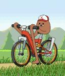 ambiguous_gender animated bicycle :d digital_media_(artwork) gondola_(spurdo) grass hat meme mountain open_mouth outside tree unknown_artistRating: SafeScore: 32User: ChaserDate: February 28, 2019